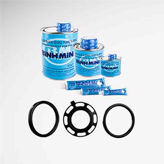 Keo dán & gioăng cao su dùng cho ống & phụ tùng ống PVC cứng